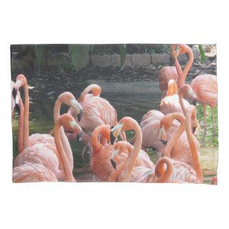 熱帯ピンクのフラミンゴの鳥 枕カバー