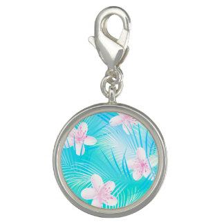 熱帯ピンクのfrangipani チャーム