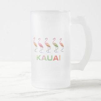 熱帯フラミンゴカウアイ島の3月 フロストグラスビールジョッキ