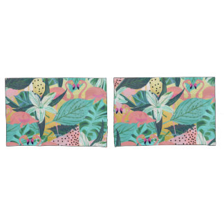 熱帯フラミンゴ 枕カバー