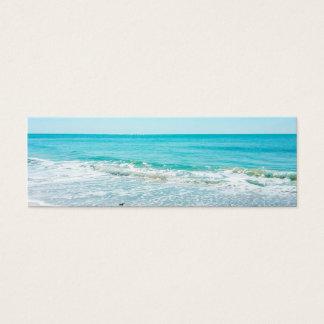 熱帯フロリダのビーチの砂の海洋波のシギ スキニー名刺
