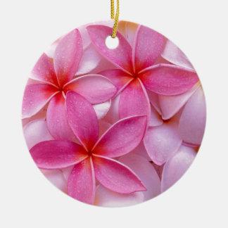 熱帯プルメリアの花 セラミックオーナメント