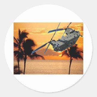 熱帯ヘリコプター飛行 ラウンドシール