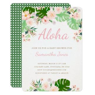 熱帯ベビーシャワーの招待 カード