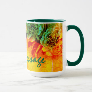 熱帯ボーダーマグのテンプレート マグカップ