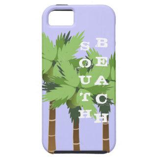 熱帯ヤシの木が付いている南ビーチマイアミフロリダ iPhone SE/5/5s ケース