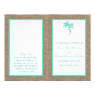 熱帯ヤシの木のビーチ結婚式のコレクション チラシ