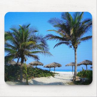 熱帯ヤシの木の海のビーチの楽園のマウスパッド マウスパッド