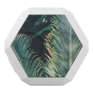 熱帯ヤシの木の葉、エキゾチックな写真 ホワイトBluetoothスピーカー