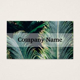 熱帯ヤシの木の葉、エキゾチックな写真 名刺