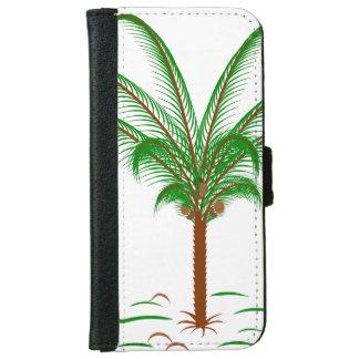 熱帯ヤシの木 iPhone 6/6S ウォレットケース