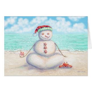 熱帯ヨガのクリスマスカード カード