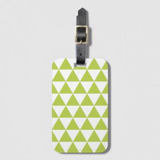 熱帯ライムの三角形パターン手荷物のラベル ラゲッジタグ