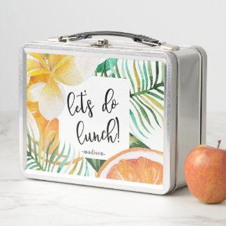 熱帯ランチボックスが名前を加える昼食をしよう ランチボックス