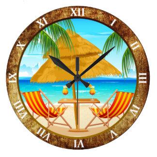 熱帯休暇のカスタムな柱時計 ラージ壁時計