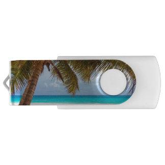 熱帯冷えるビーチ場面 USBフラッシュドライブ