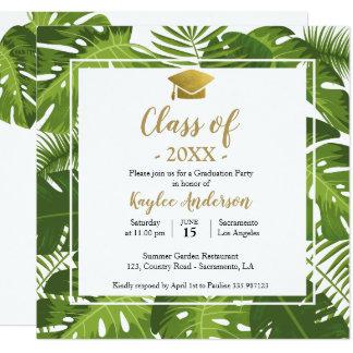 熱帯卒業の写真の招待カード カード