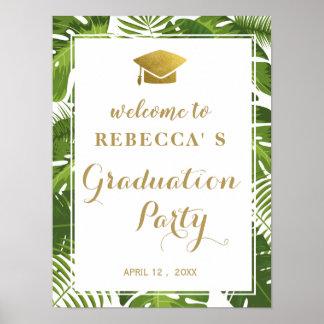 熱帯卒業パーティーの喜ばしい徴候|および金ゴールド ポスター