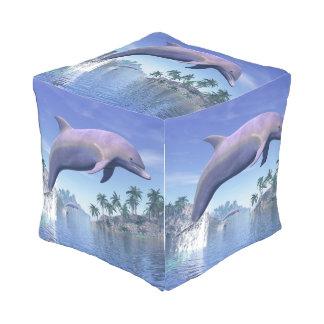熱帯地方のイルカ- 3Dは描写します アウトドアプーフ