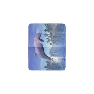 熱帯地方のイルカ- 3Dは描写します 名刺入れ