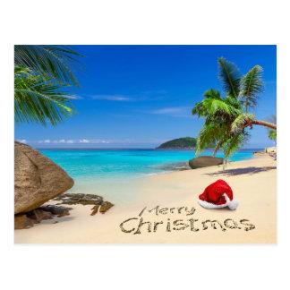 熱帯地方のサンタの帽子とのメリークリスマス ポストカード