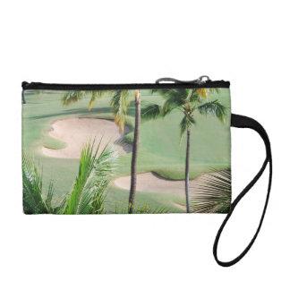 熱帯地方の硬貨の財布のゴルフコース