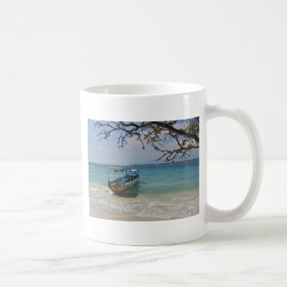 熱帯地方の船遊び コーヒーマグカップ