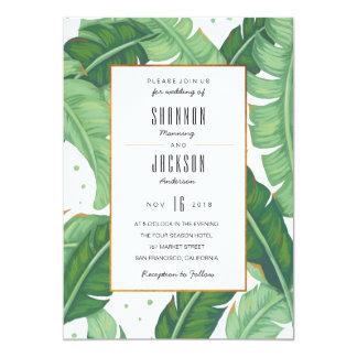 熱帯夏の結婚式招待状 カード
