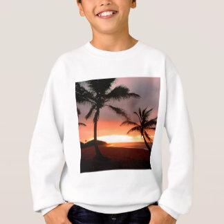 熱帯島のやしドミニカ共和国 スウェットシャツ