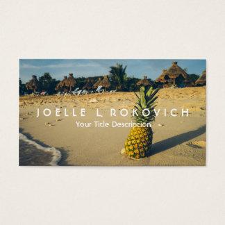 熱帯島のビーチのパイナップル旅行観光事業 名刺