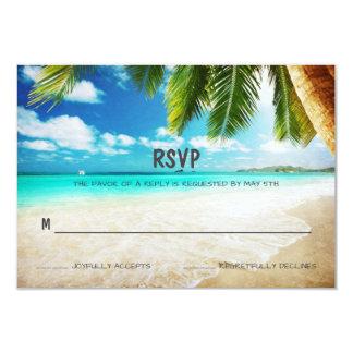 熱帯島のビーチ結婚式RSVPカード カード