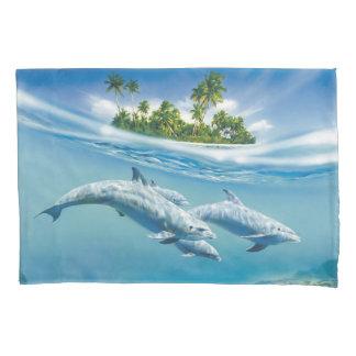熱帯島のファンタジー(2つの側面)の枕カバー 枕カバー