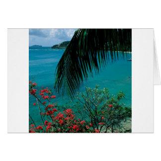 熱帯島の友情湾ベキア島 カード