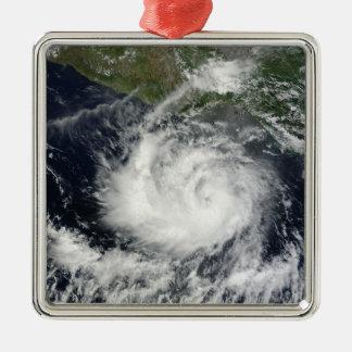 熱帯嵐Darbyの衛星眺め メタルオーナメント