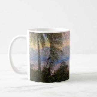 熱帯抽象的な景色 コーヒーマグカップ