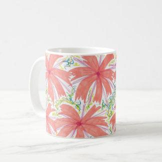 熱帯日が差すことの花のマグ コーヒーマグカップ