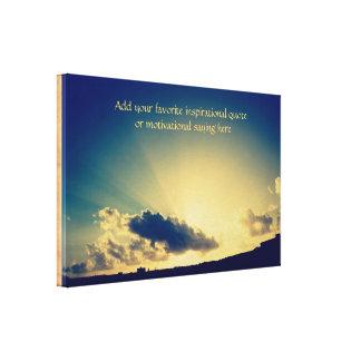 熱帯日の出の奇跡のヴィンテージの紙の質感 キャンバスプリント