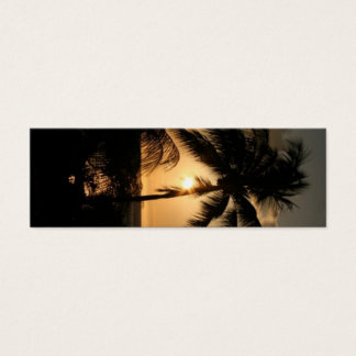 熱帯日没のしおり スキニー名刺