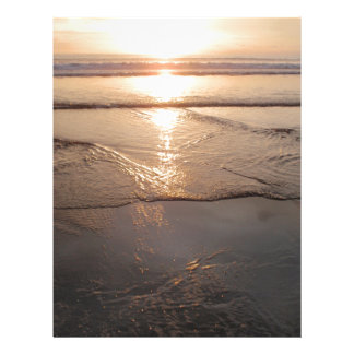 熱帯暗いビーチの日没 レターヘッド