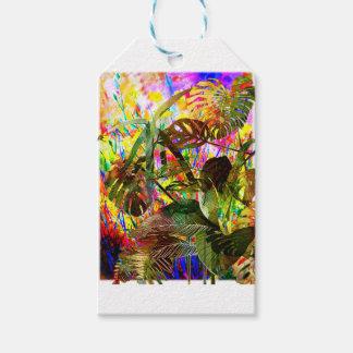 熱帯植物および花 ギフトタグ