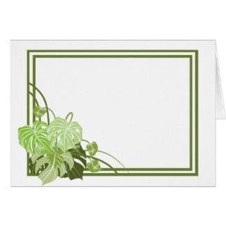 熱帯植物フレーム カード