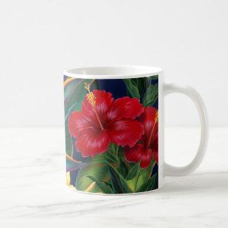 熱帯楽園のハイビスカスのマグ コーヒーマグカップ