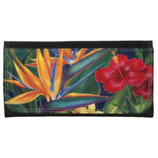 熱帯楽園のハワイの花の財布