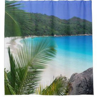 熱帯楽園のビーチのシャワー・カーテン シャワーカーテン