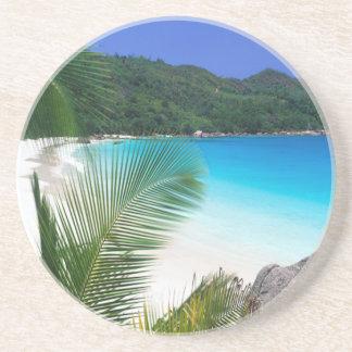 熱帯楽園のビーチの砂岩コースター コースター