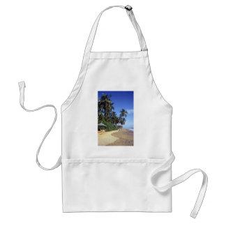 熱帯楽園のビーチ場面エプロン スタンダードエプロン
