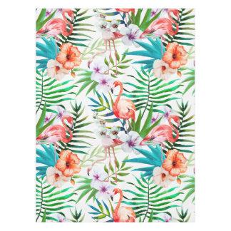 熱帯楽園のフラミンゴ花の葉 テーブルクロス