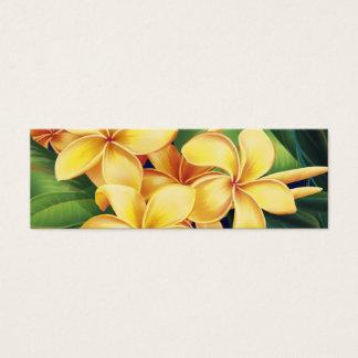熱帯楽園のプルメリアのしおり スキニー名刺