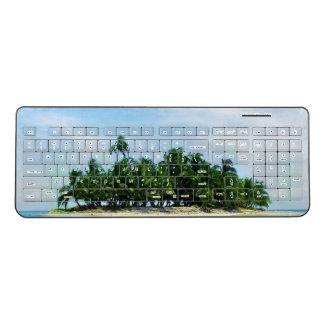 熱帯楽園の小さい島 ワイヤレスキーボード
