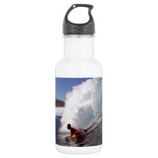 熱帯楽園の波をサーフしている体板 ウォーターボトル